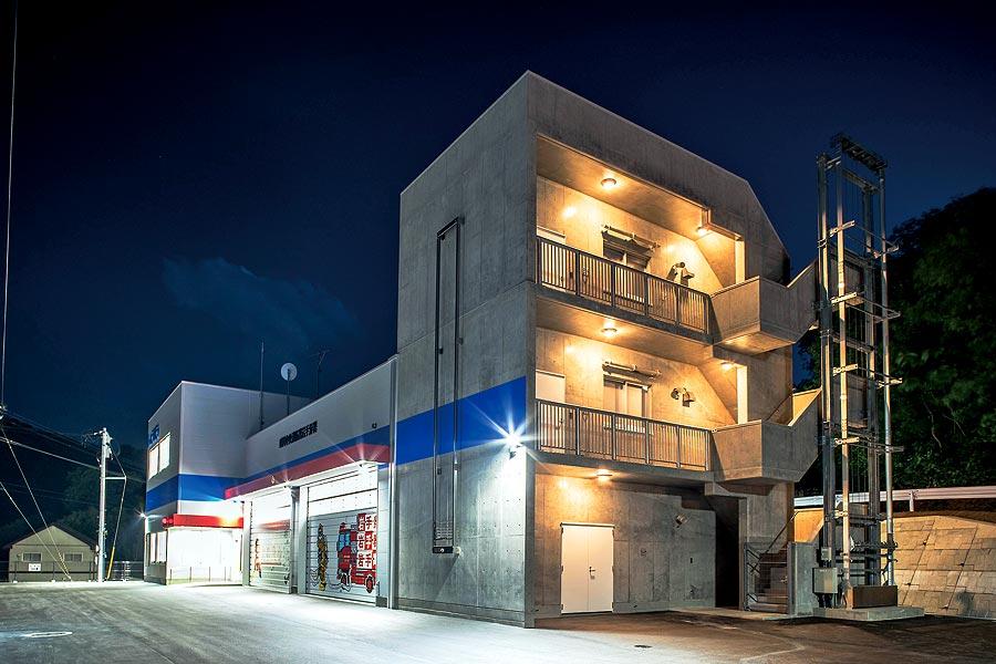 盛岡中央消防署岩手分署(岩手県岩手町)/迅速な火災・救急・救助を担う、岩手町の地域拠点。