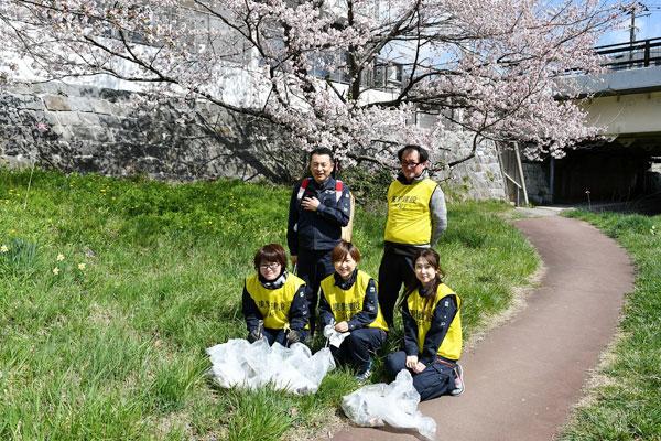 北上川清掃